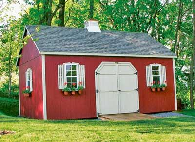2 Story Red Shed