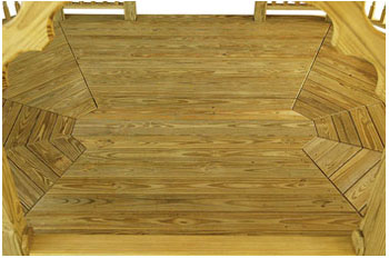 Oval Wooden Floor